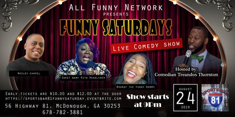 Saturday comedy show(Sports bar 81) tickets