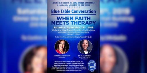 Blue Table Discussion-When Faith Meets Therapy