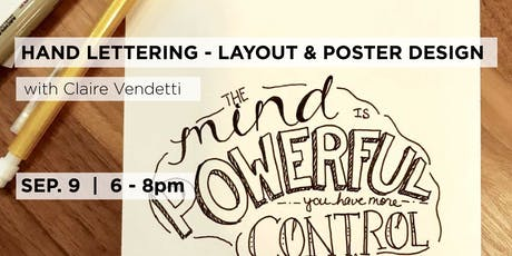 Hand Lettering - Layout & Poster Design with Billie Claire Handmade tickets