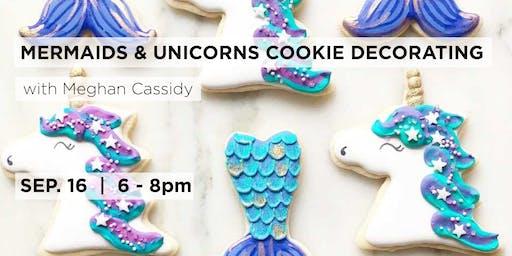 Mermaids & Unicorns Cookie Decorating with Meghan Bakes