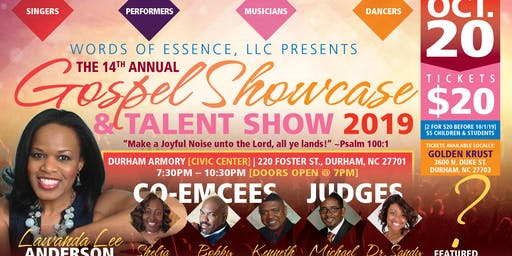 "Words of Essence's 14th Annual ""Gospel Showcase & Talent Show 2019"""