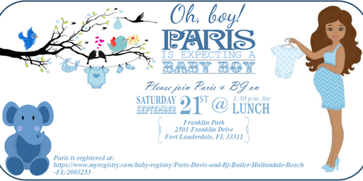 Paris & BJ's Baby Shower