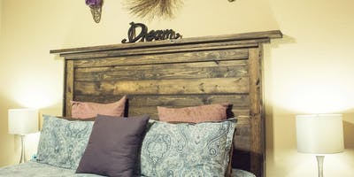 DIY rustic headboard workshop