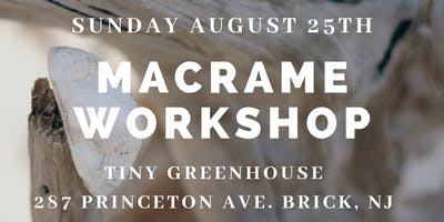 Boho Macrame Workshop