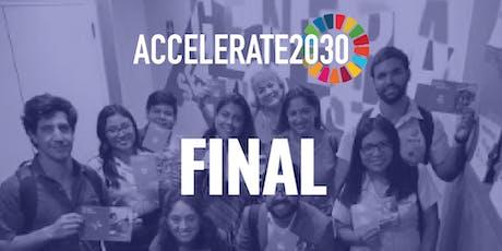 Final del programa internacional Accelerate 2030 tickets