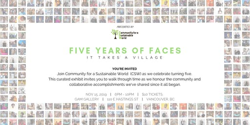 Five Years of Faces | Pop-up Art Gallery and Birthday Party