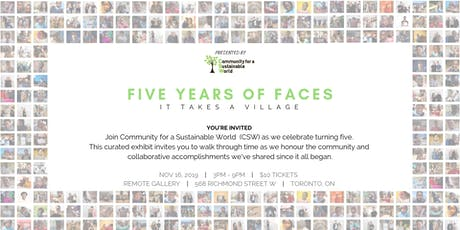 Five Years of Faces | Pop-up Art Gallery tickets