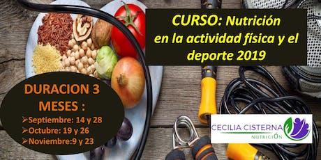 Curso: Nutricion en la actividad física y el deporte entradas