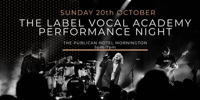 The Label Vocal Academy Performance Night