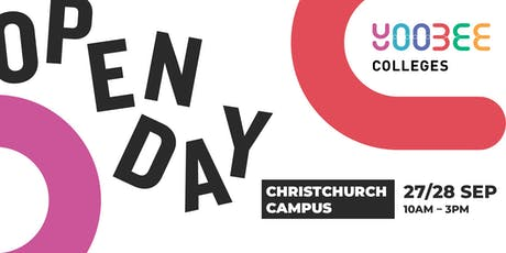 OPEN DAY | Yoobee Colleges - Christchurch Campus tickets