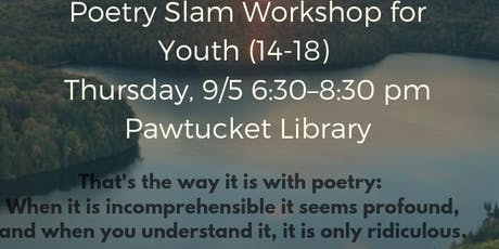 Galway Kinnell Youth (14-18) Poetry Slam Workshop tickets