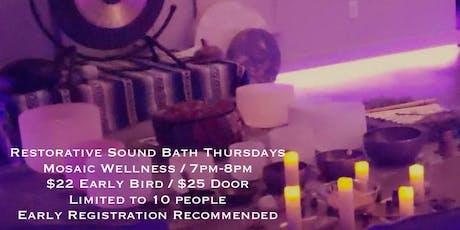 Restorative Sound Bath with Kirsten Korot tickets