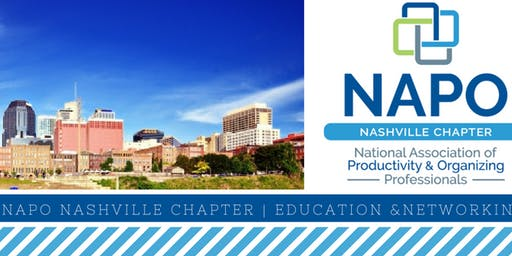 NAPO Nashville Newbies Meeting (Networking & Introductions For Professional Organizers & Productivity Experts)