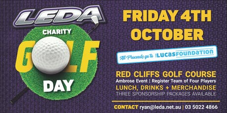 The Lucas Foundation Charity Golf Day hosted by LEDA tickets