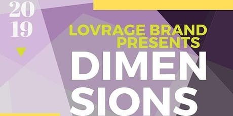 Lovrage brand apparel present:  Dimensions fashion and art show  tickets