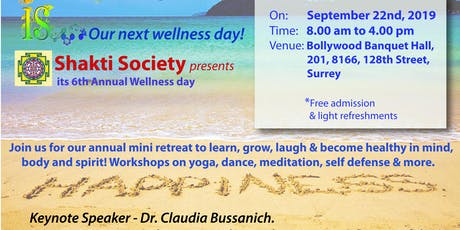 Shakti Society's Annual Wellness Day - Happiness tickets