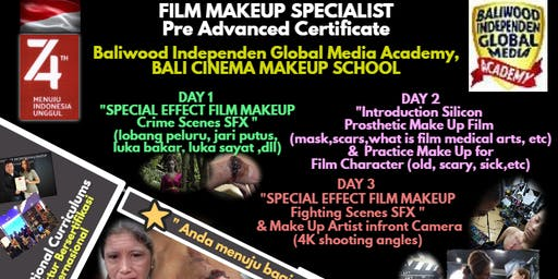 Film Makeup Specialist, Pre Advanced Certificate