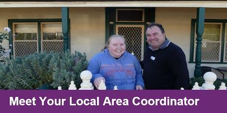 Meet Your Local Area Coordinator Orange tickets
