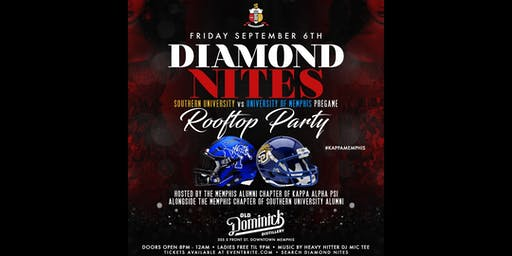 Diamond Nites : Southern University vs Memphis Pre Game Rooftop Party