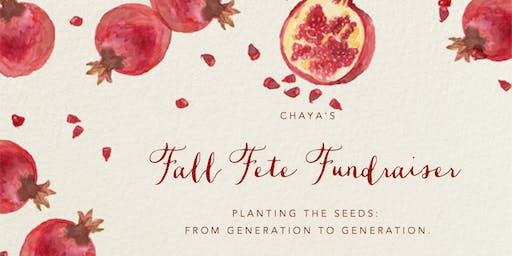 Chaya's Fall Fête Fundraiser
