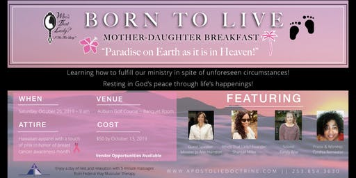 WTL BORN TO LIVE Mother-Daughter Breakfast