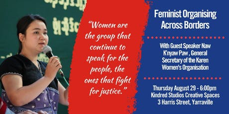 Feminist Organising Across Borders with Kn'Yaw Paw (Karen Women's Organisation)  tickets