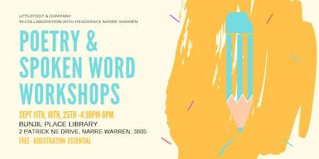 Poetry & Spoken Word Workshops tickets