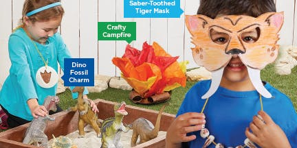 Lakeshore's Free Crafts for Kids Prehistoric Saturdays in September (Newton)