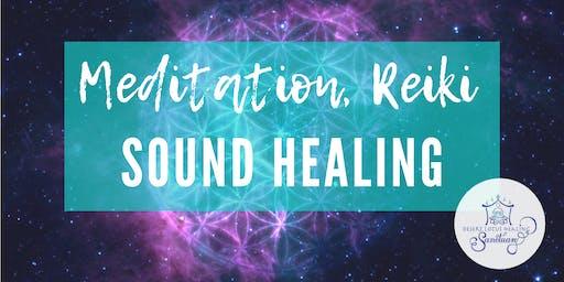 August Meditation, Reiki & Sound Healing