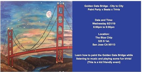 Golden Gate Bridge - Paint Party, Trivia and Beats  tickets