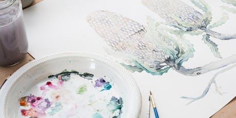 Adult and Teen Watercolour Art Class at Handmade Canberra  tickets