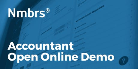 Nmbrs® Accountant Open Online Demo tickets
