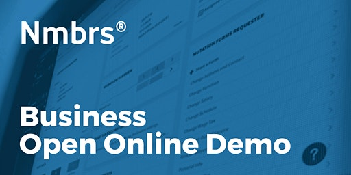 Nmbrs® Business Open Online Demo