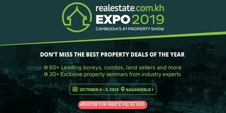 Realestate.com.kh Expo 2019 tickets