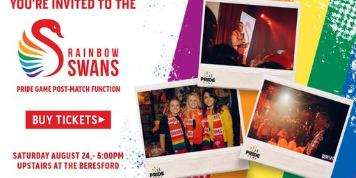 Rainbow Swans Pride Game After Party 2019