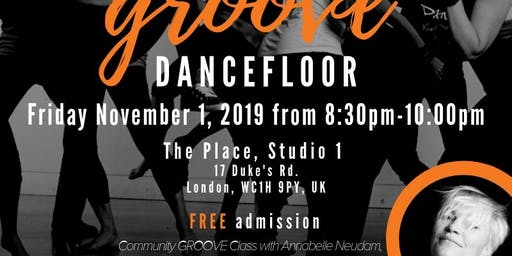 Free Community Groove Dance Party in London with Annabelle Neudam