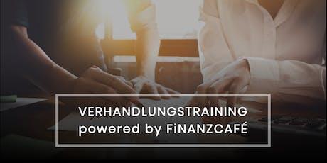Verhandlungstraining powered by FiNANZCAFÉ Tickets