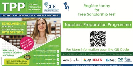 Free Scholarship test for KHDA Approved NCFE Teaching Qualification tickets