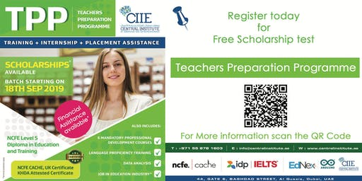Free Scholarship test for KHDA Approved NCFE Teaching Qualification