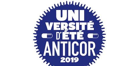 Université d'été Anticor 2019 billets