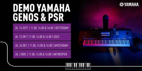 Demo Yamaha Genos & PSR bij Bax Music Goes tickets