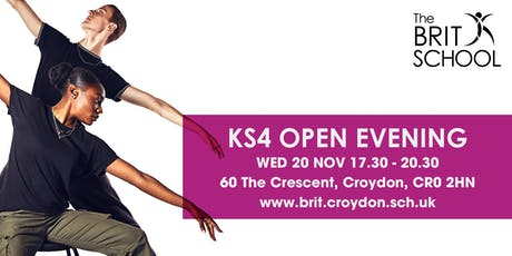 The BRIT School Key Stage 4 Open Evening 2019 tickets