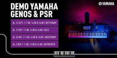 Demo Yamaha Genos & PSR bij Bax Music Antwerpen