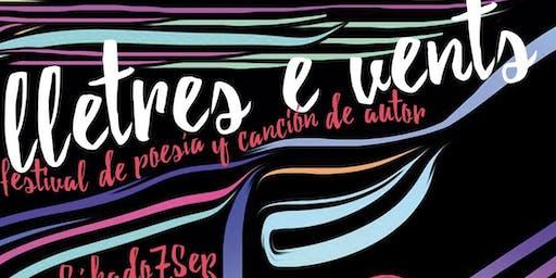 LLETRES E VENTS - FESTIVAL DE POESÍA Y CANCIÓN DE AUTOR