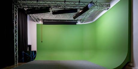 """WORKSHOP: VFX & 3D ANIMATION """"Erweiterte Filmwelten dank Greenscreen"""" tickets"""