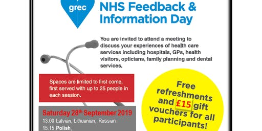 GREC/NHS information and focus group sessions: Fraserburgh 2019