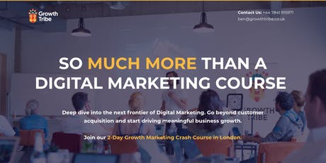 2 Day Growth (Digital) Marketing Course tickets