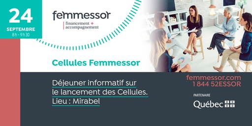 Déjeuner lancement des Cellules Femmessor | 24 septembre 2019 | Mirabel
