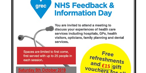 GREC/NHS information and focus group sessions: Aberdeen 2019