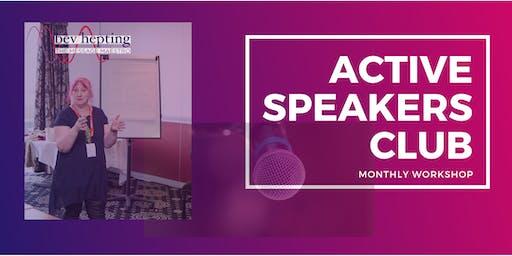 Active Speakers Club monthly Workshop - Blandford